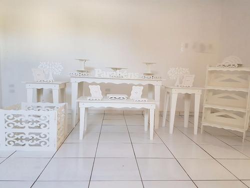 kit peças mesas provençais decoração festa provençal pintado