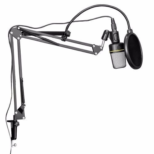kit pedestal articulado haste p microfone pop filter dreamer
