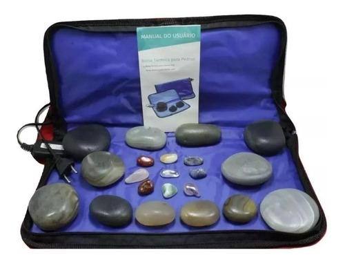 kit pedras quentes ágata + manta aquecimento voltagem 110v