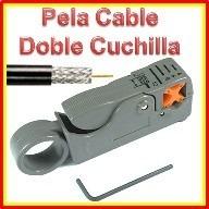 kit pelador + ponchador cable coaxial rg6-rg 59 + conectores