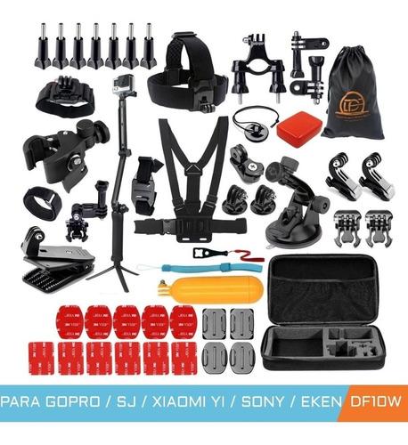 kit película 3 way boia suporte capacete gopro hero 8 black