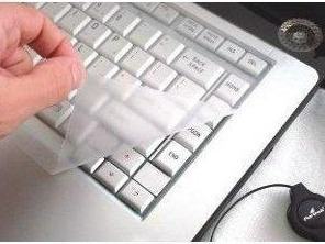 kit pelicula tela 15,6 +pelicula protetora silicone teclado