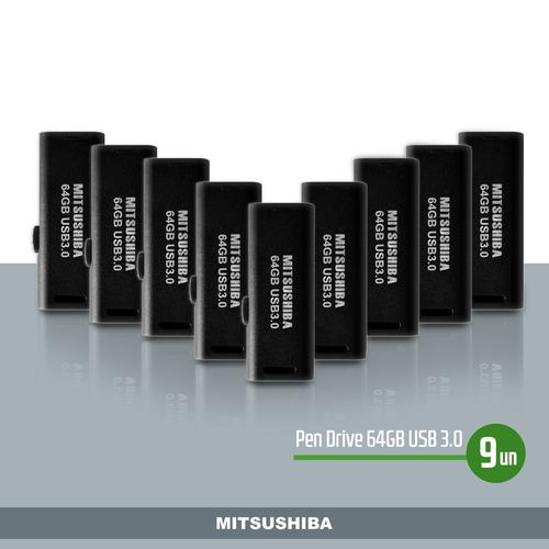 kit pen drive 64gb(usb 3.0)  9pcs  mitsushiba