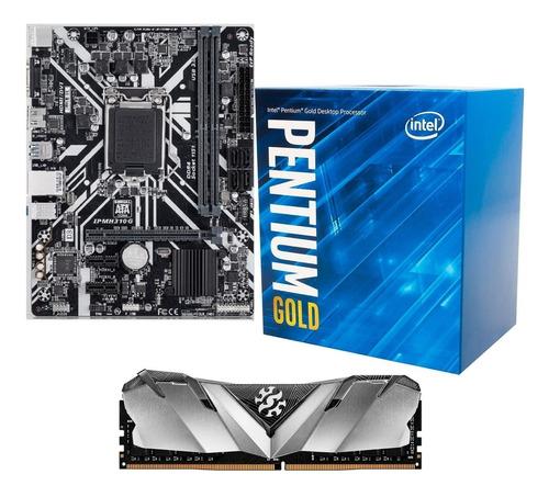 kit pentium g5400 + pl mae h310 + mem 8gb 2666mhz gaming