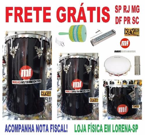 kit percussão music: tantam rebolo repique pandeiro reco +!