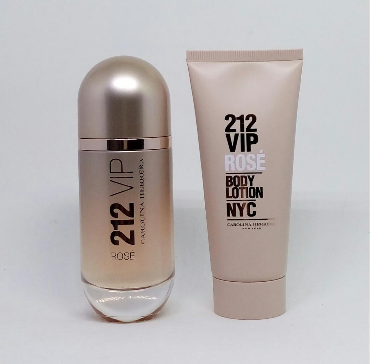 837844a30ca Kit Perfume 212 Vip Rose Edp 80 Ml + Hidratante 100 Ml - R  359
