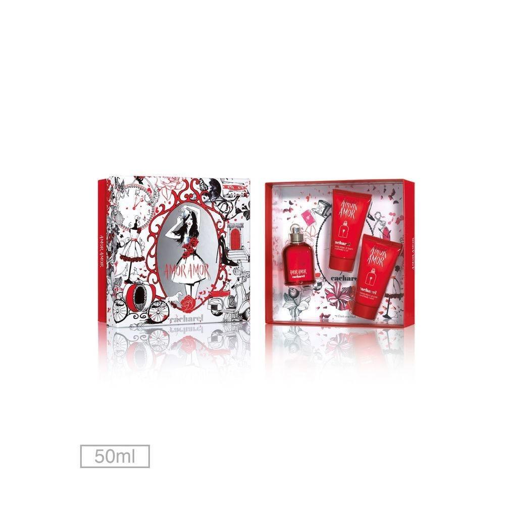 02dfdc9e1 kit perfume amor amor cacharel 50ml +2 loções corporal + nf. Carregando  zoom.