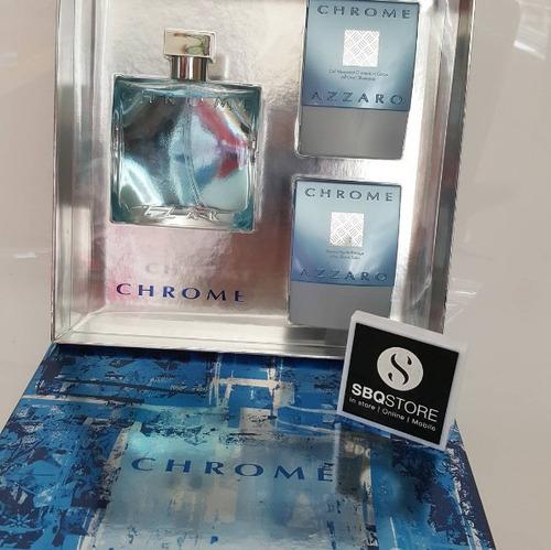 kit perfume chrome azzaro hombre original envío gratis
