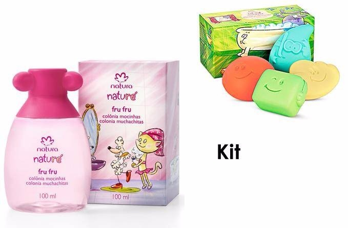 8ba1201581480a Kit Perfume Colonia Infantil Menina + Sabonete Natura