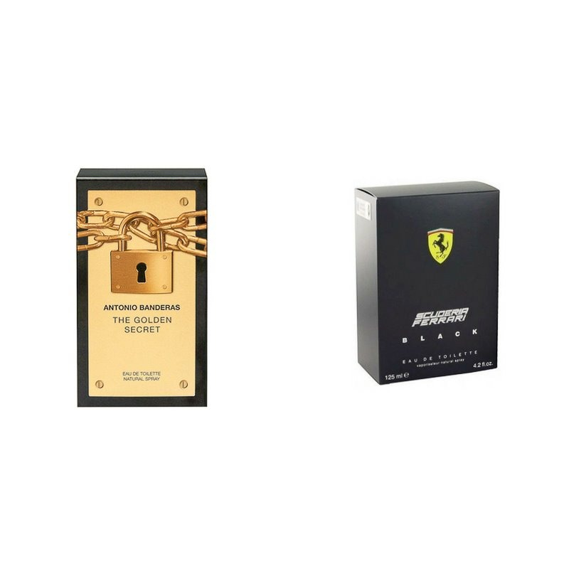 72a59eb1fe kit perfume ferrari black 200ml + the golden secret 100ml. Carregando zoom.