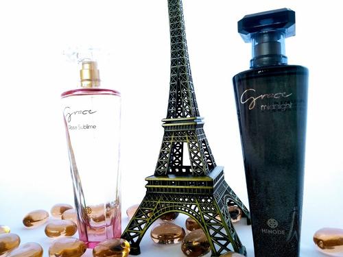 kit perfume grace midnight + grace lá rose sublime com 100ml