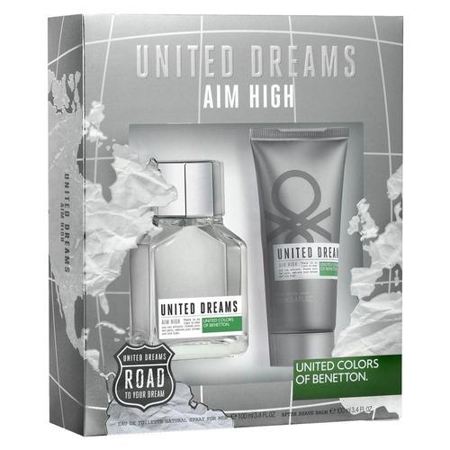 kit perfume masculino benetton united dreams aim high edt