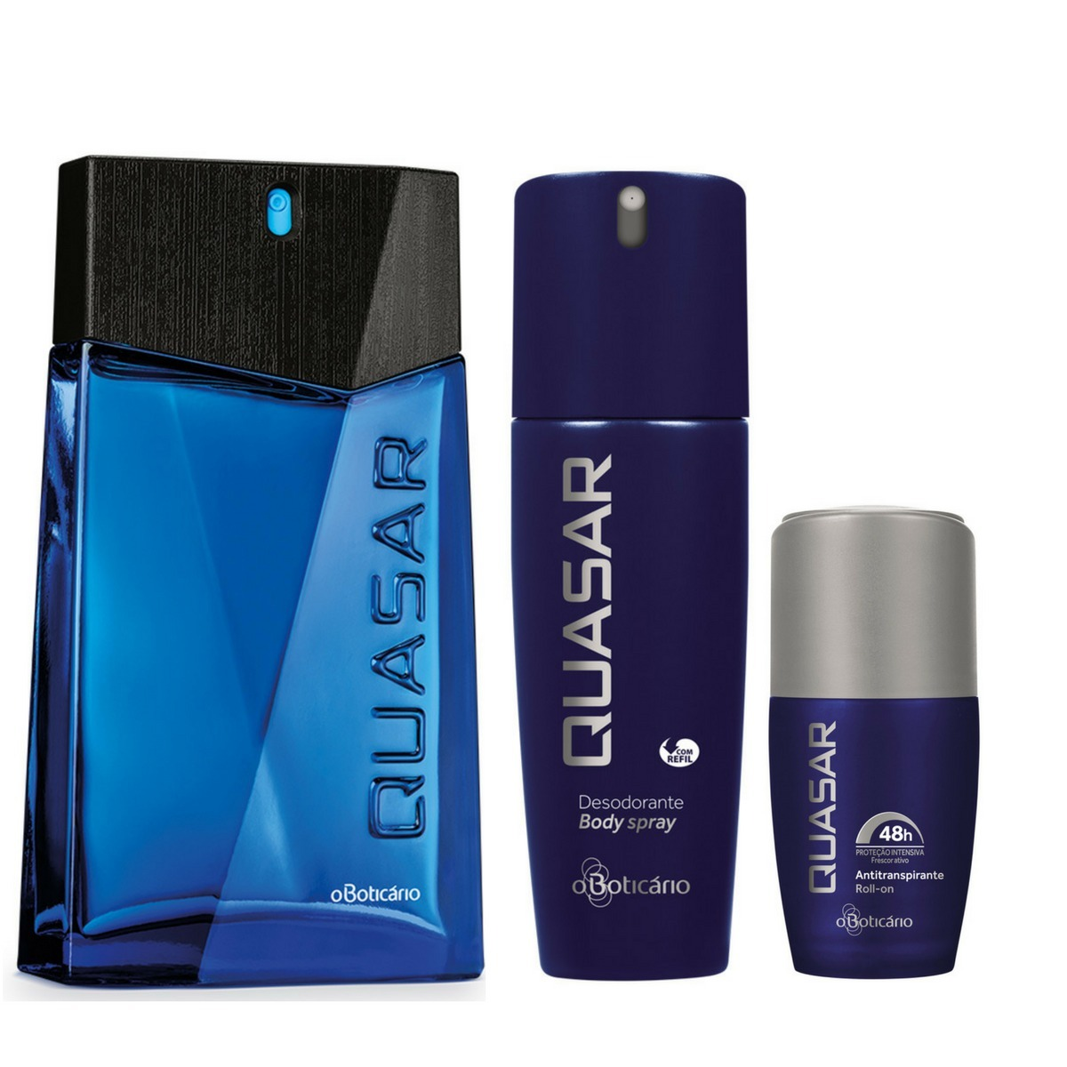 26747b68a kit perfume masculino quasar+des roll-on+des spray boticario. Carregando  zoom.