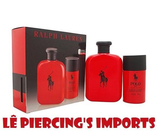 kit perfume ralph lauren polo red masc 125ml + desod 75ml