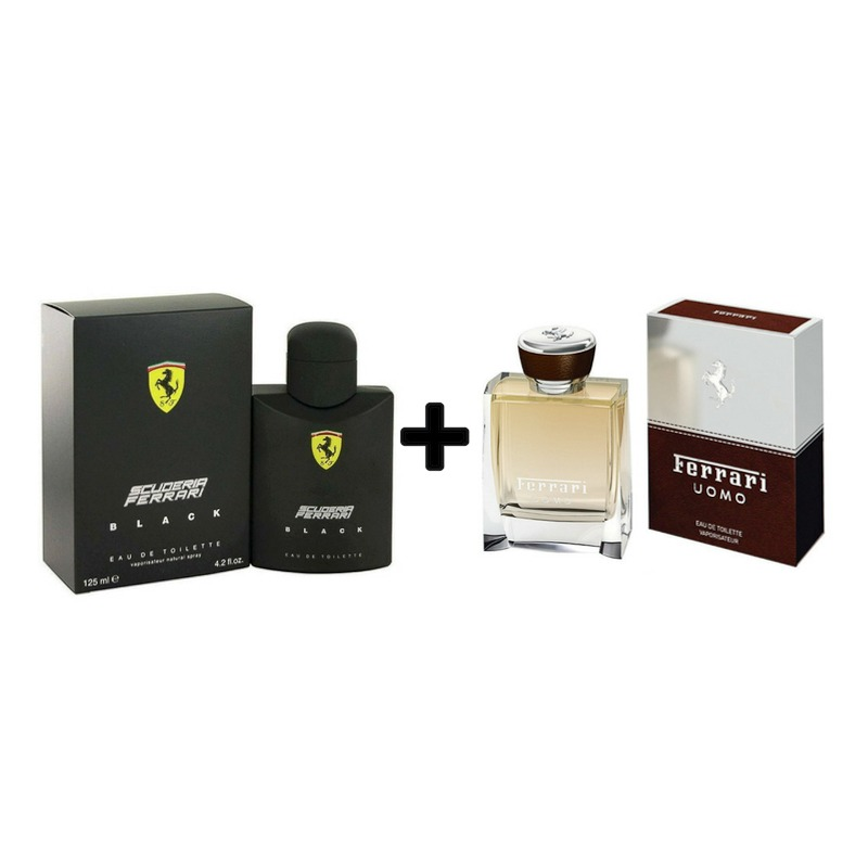 415742e9d kit perfume scuderia ferrari black 125ml + ferrari uomo 30ml. Carregando  zoom.