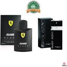 kit perfume silver scent 100ml +ferrari black 125ml original