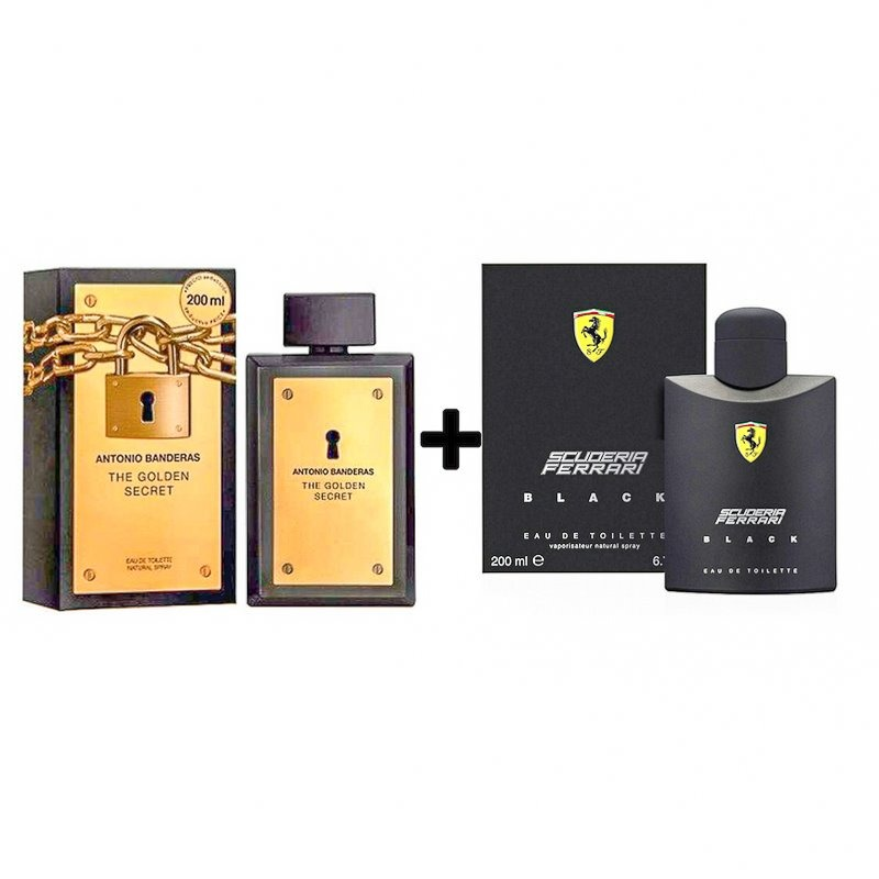 4811f27a90 kit perfume the golden secret 200ml + ferrari black 200ml. Carregando zoom.