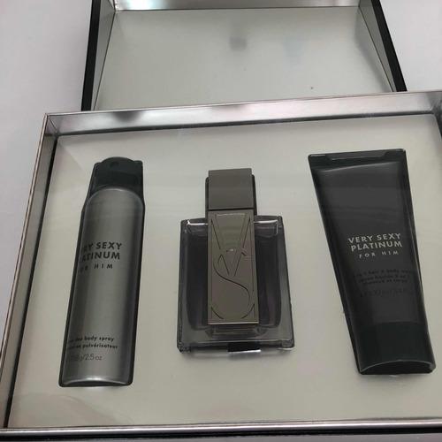 kit perfume very sexy platinum victorias secret masculino