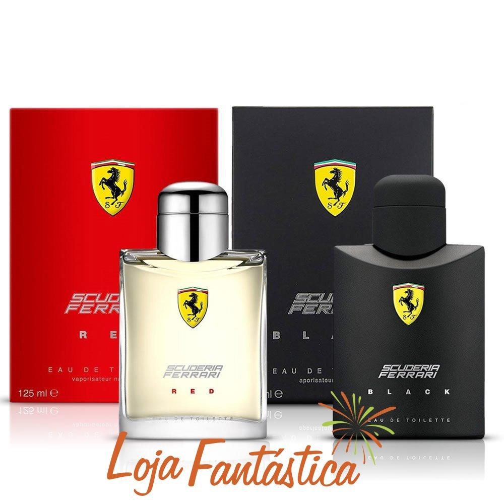 Kit Perfumes Importados Ferrari Scuderia Black Red Masc 125 - R  309 ... 29c1340b646