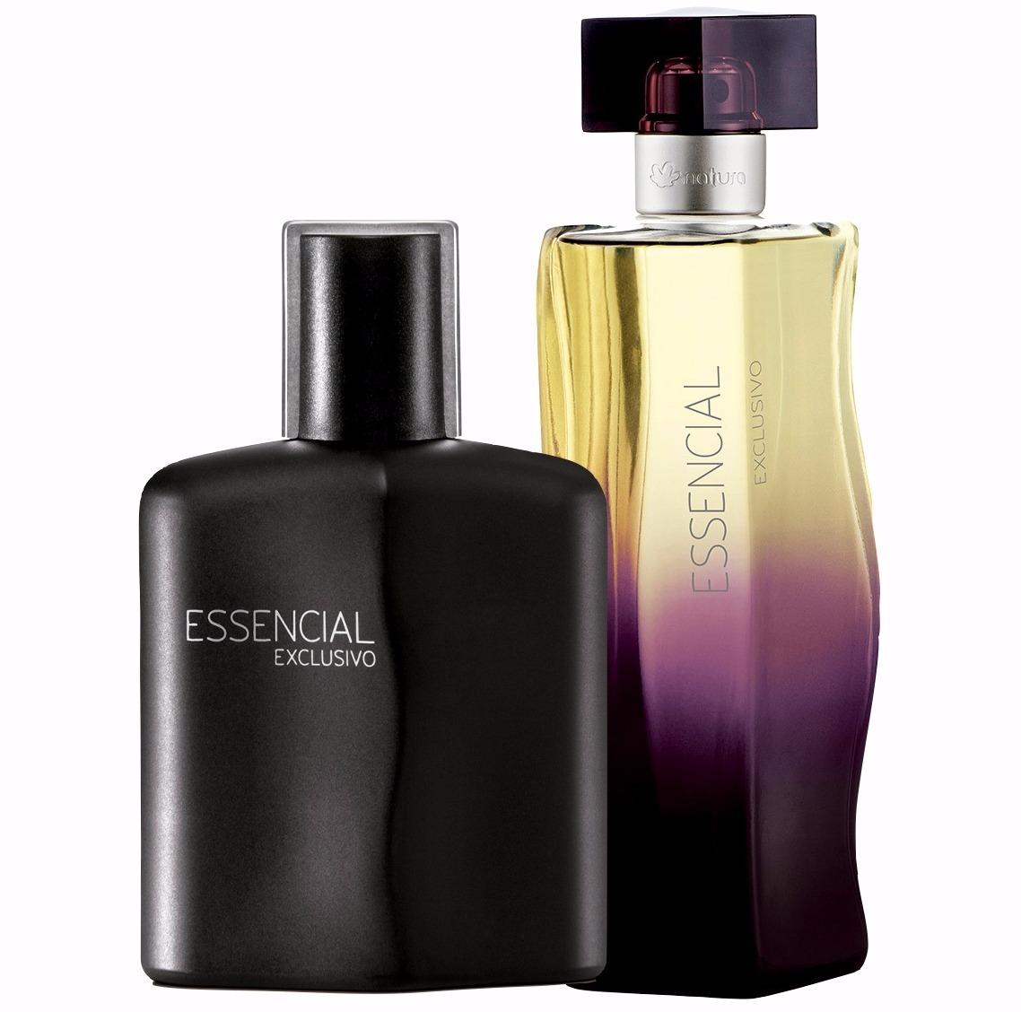0b636561e8 Kit Perfumes Natura Essencial Exclusivo Masculino + Feminino - R  201
