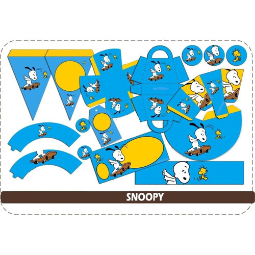 kit personalizable e imprimible snoopy