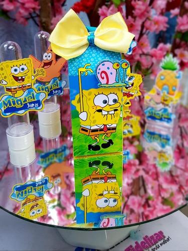 kit personalizados bob esponja - 40 itens