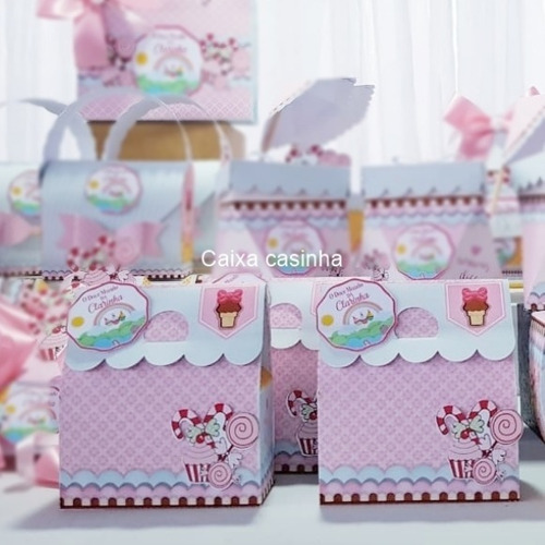 kit personalizados confeitaria - 50 itens