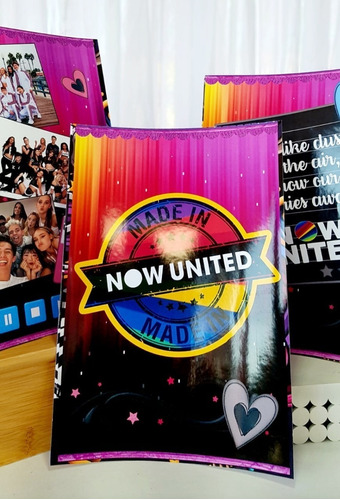 kit personalizados now united - 34 itens