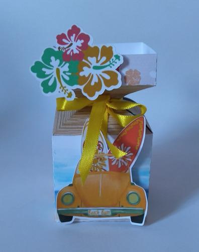 kit personalizados para festas praia meia bala cone 3d 50pç