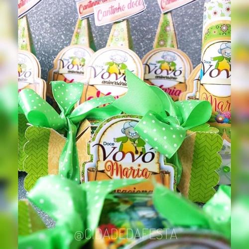 kit personalizados qualquer tema - 20 itens com doces