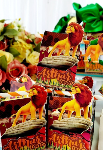 kit personalizados tema rei leão - 30 itens