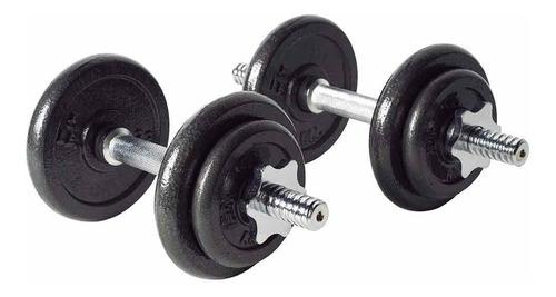 kit pesas mancuernas 20 kg 40 lb gimnasio portatil + estuche