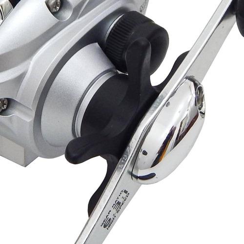 kit pesca com carretilha perfil baixo arena + vara + linha