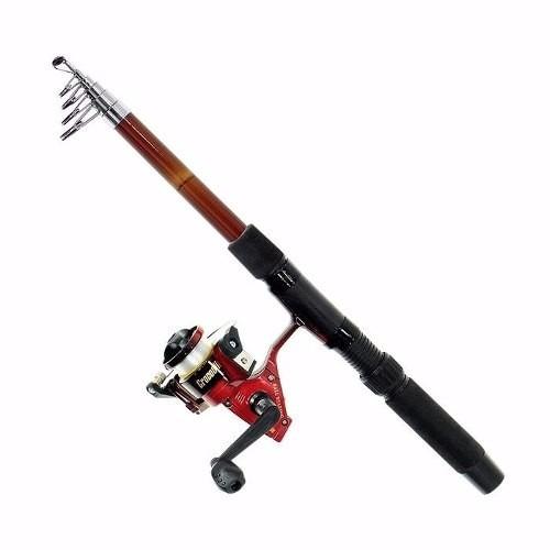 kit pesca completo vara 2 mts molinete linha anzois boia