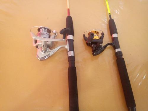 kit-pesca marine sports-2 molinetes+2 varas+com acessórios
