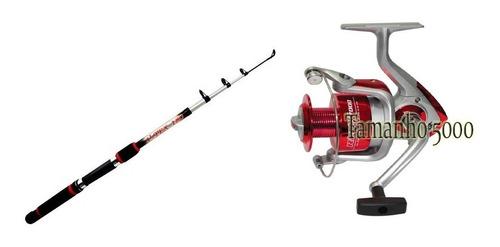 kit pesca praia vara 3,00m +mol. 4000  3 rol. super promoção