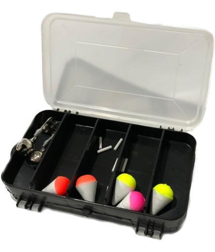 kit pesca, vara, molinete, caixa, marine sport acessorios