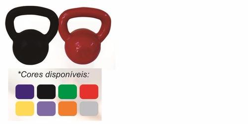 kit peso musculação kettlebell 4 kg emborrachado