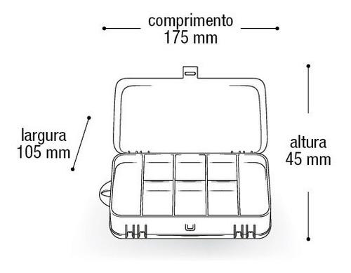 kit pesqueiro organizadora anzóis chumbo girador - 91 itens