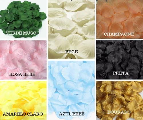 kit pétala rosas flor artificiais seda várias cores perfume