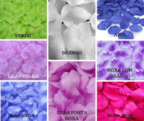 kit pétalas rosas flor artificiais seda várias cores decora