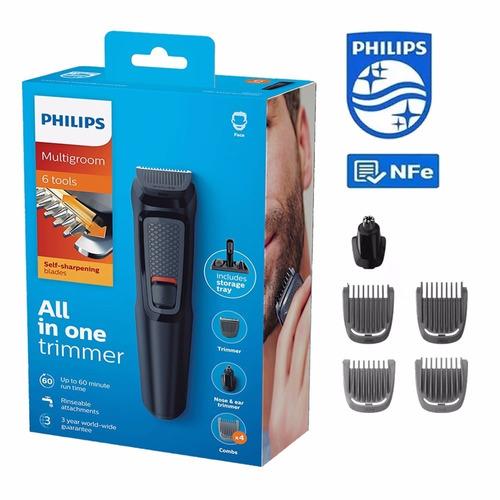 kit philips barbeador e aparador a prova d'agua mg3711/15