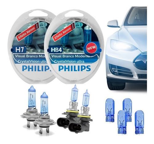kit philips com h7 hb4 4300k crystal vision ultra 4300k