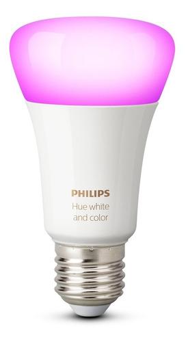 kit philips hue bridge + 10 ampolletas led hue 10w colores