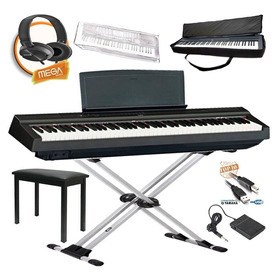 Kit Piano Digital Yamaha P125 Font +pedal+usb+bag+capa+banco