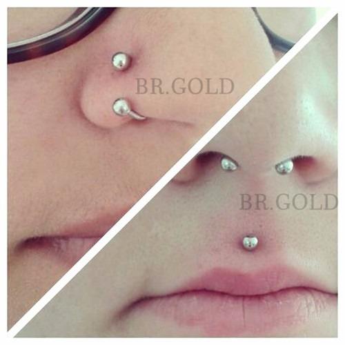 Kit piercing ferradura piercing argola com trava de - Porta piercing ...