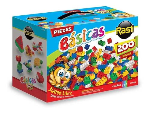 kit piezas basicas rasti x 200 1009 juego chicos ladrillos