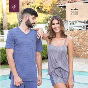 06aabb315785f3 Kit Pijama Casal Curto Masculino E Feminino Verão Promoção
