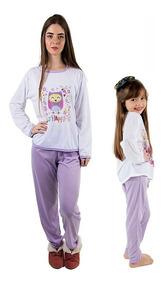 71cb79a814fdb8 Kit Pijama Longo Tal Mãe Tal Filha- Preço Baixo Inverno