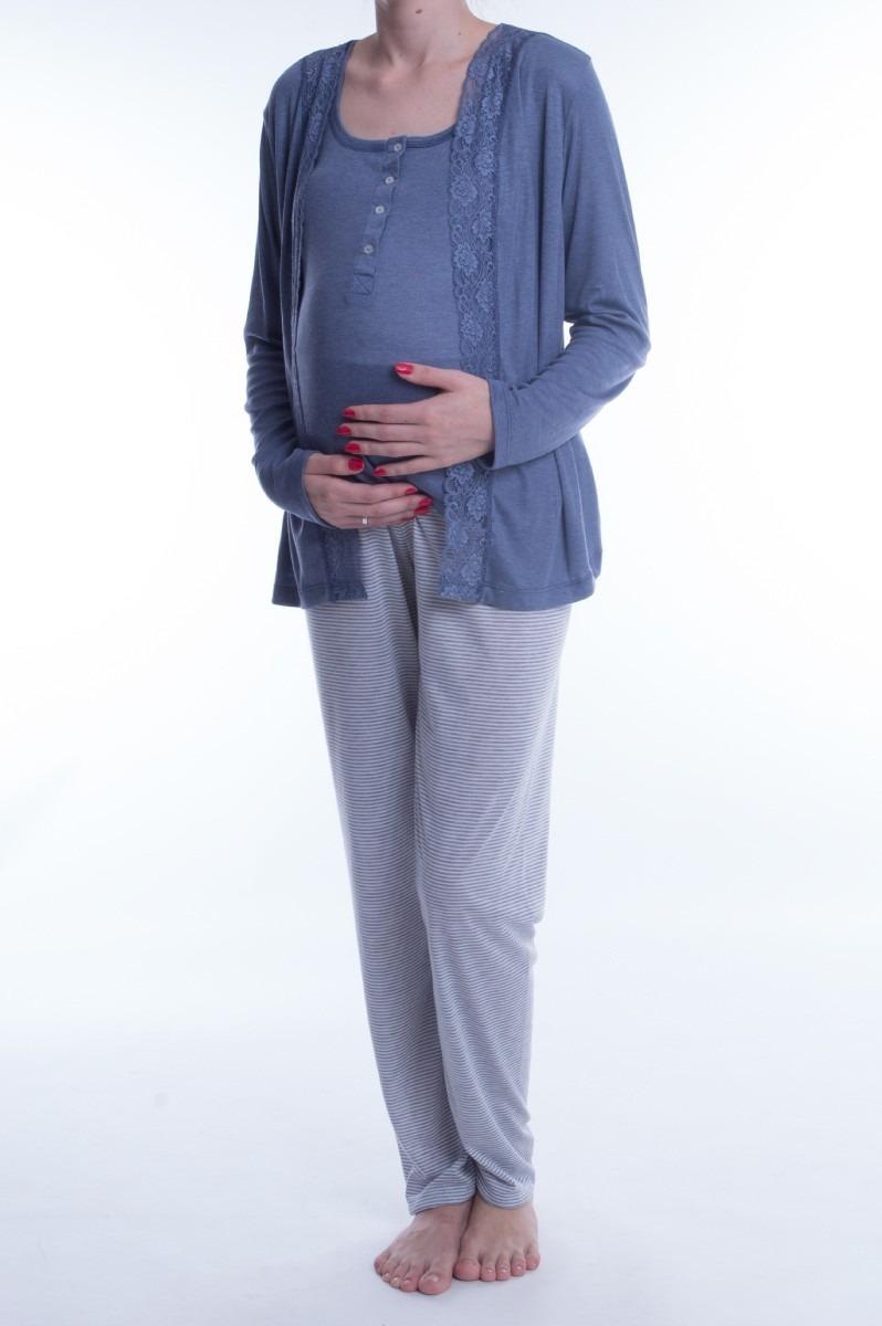 73a5f101a kit pijamas inverno gestante para maternidade - 4 peças. Carregando zoom.